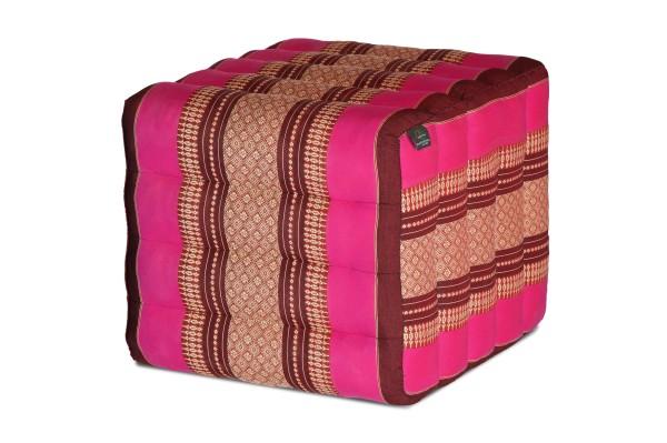 Lagerungskissen mit Thaimuster 40x45x50 cm (burgunder & pink)