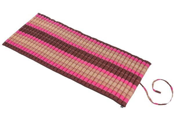 Rollbare Kapokmatte 200x80 (burgunder & pink) offen