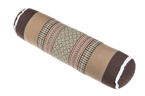 Thai kapok bolster brown & beige