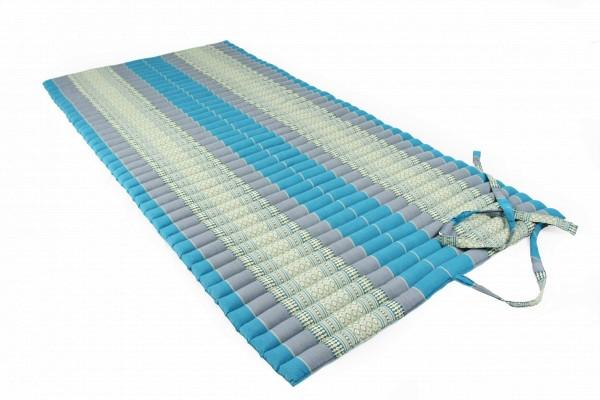 Thaikissen Rollmatte 200x100 cm (blautöne) offen