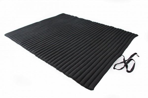 Rollbare Thaimatte 200x150 cm (schwarz) offen