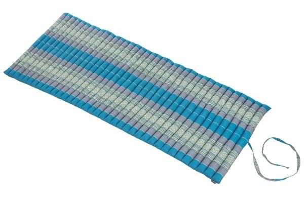 Rollbare Kapokmatte 200x80 (blautöne) offen