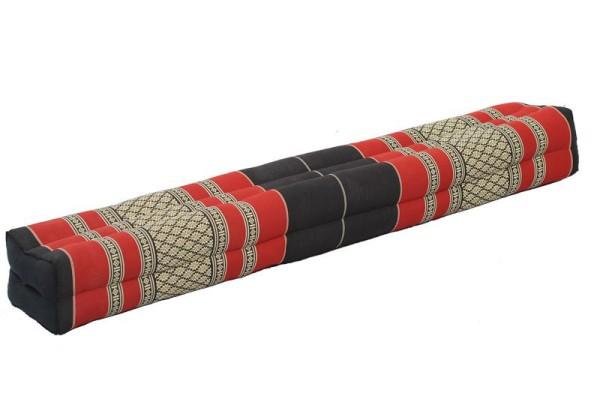 rechteckiges Kissen lang 115x15x10 cm (schwarz-rot)