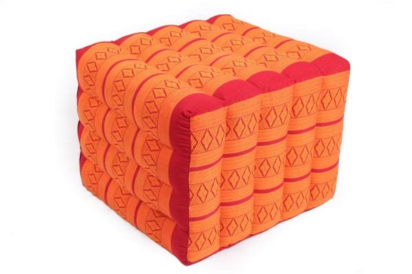 Lagerungskissen mit Thaimuster 40x45x50 cm (rot & orange)