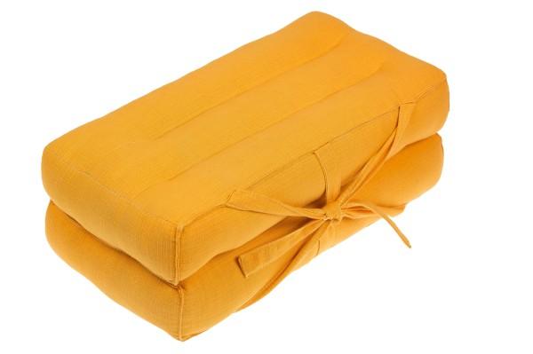 Falt- und tragbares Sitzkissen 40x40x7 cm (gelb) geschlossen