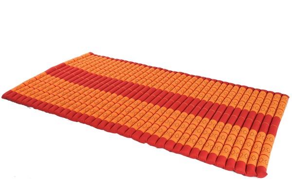 Thaikissen Rollmatte 200x100 cm (Rot & orange) offen