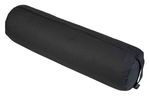 Kissenrolle / Yogarolle Buchweizen 70x20 cm (schwarz)