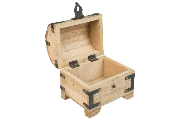 wooden chest, open, 14x13x11cm