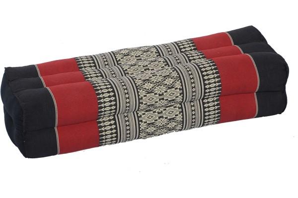 Thaikissen Block 50x15x10 cm (schwarz-rot)