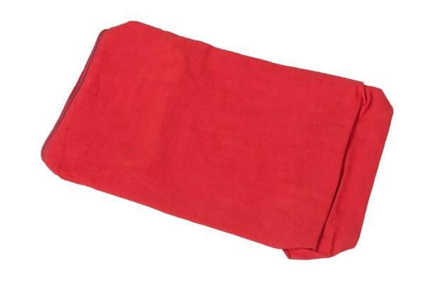 Bezug aus Baumwolle für Kapokkissen Block 35x15x10 cm (rot)