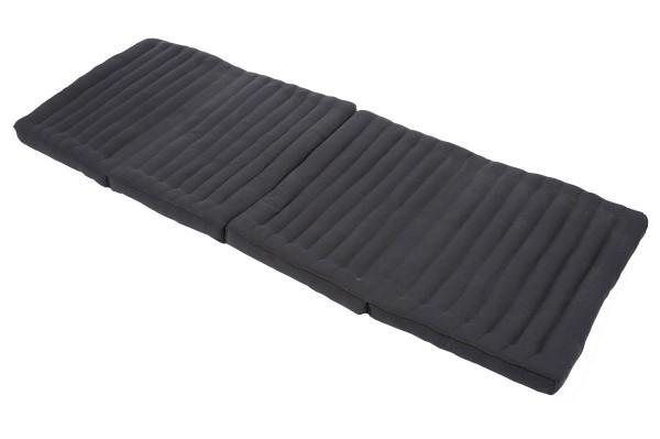 große 4-fach faltbare Matte mit Kapokfüllung 200x89 cm (schwarz) offen