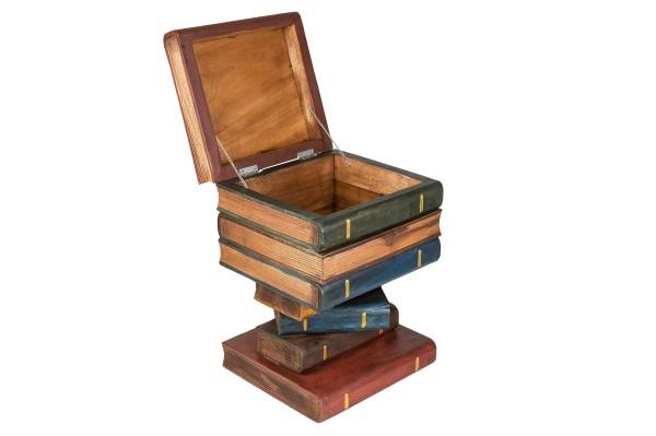 Hocker Buchstapel bemalt ca. 50x35x35