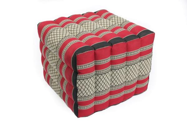 Lagerungskissen mit Thaimuster 40x45x50 cm (schwarz & rot)