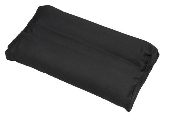 Kopfkissen mit Buchweizenfüllung und abnehmbarem Bezug 50x30 cm (schwarz)