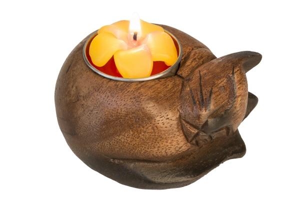 Kerzenständer Katze inkl. Kerze