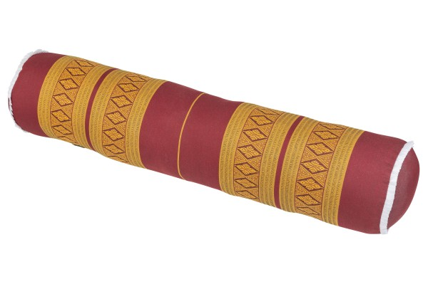 Yogarolle Thaimuster 80x20 cm (orientrot & gold)