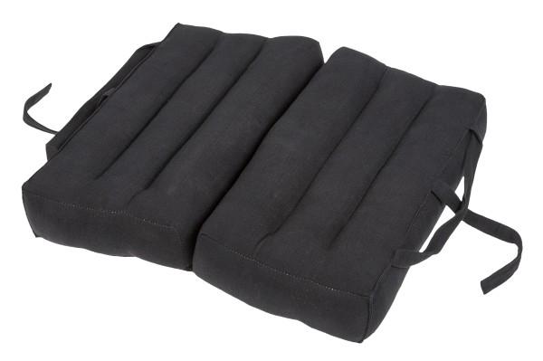 Falt- und tragbares Sitzkissen 40x40x7 cm (schwarz) aufgeklappt