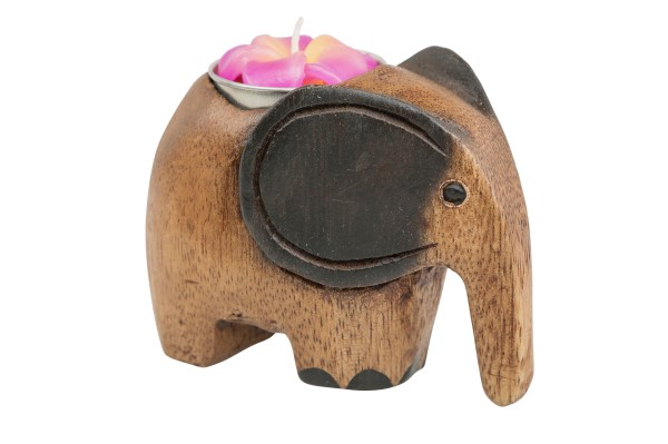 Elefantenteelicht inkl. Kerze