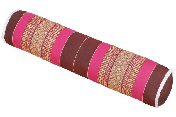 Yogarolle Thaimuster 80x20 cm (Burgunder & pink)