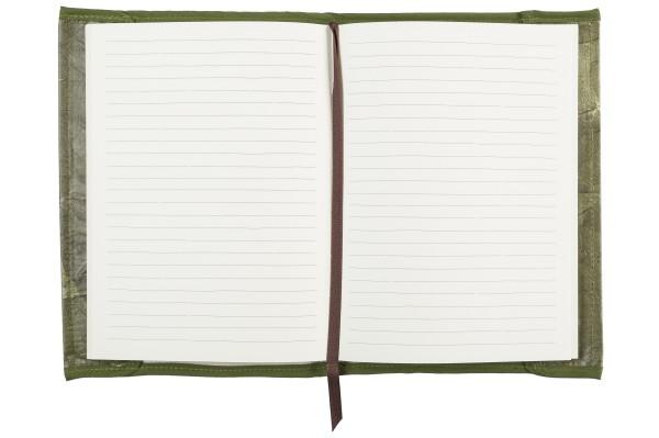 Notizbuch aus Teakblättern (grün)