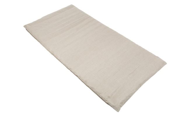 Rollmatte mit Buchweizenfüllung 200x100 cm (Bezug 100% Leinen) offen