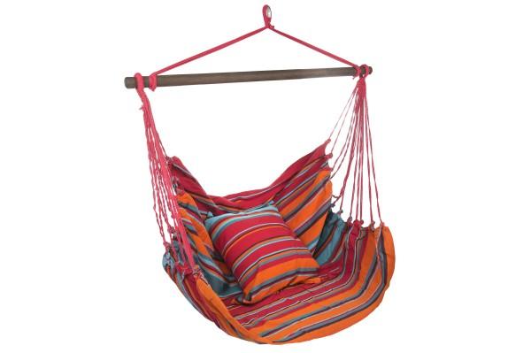 Hängesitz + Kissen (Baumwolle Indira, Fair Trade)