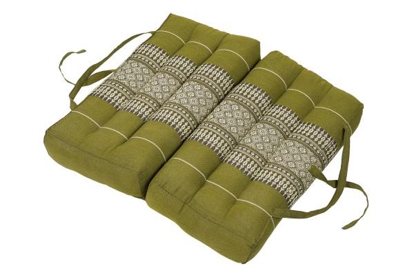 Falt- und tragbares Sitzkissen 40x40x7 cm (bambusgrün) aufgeklappt