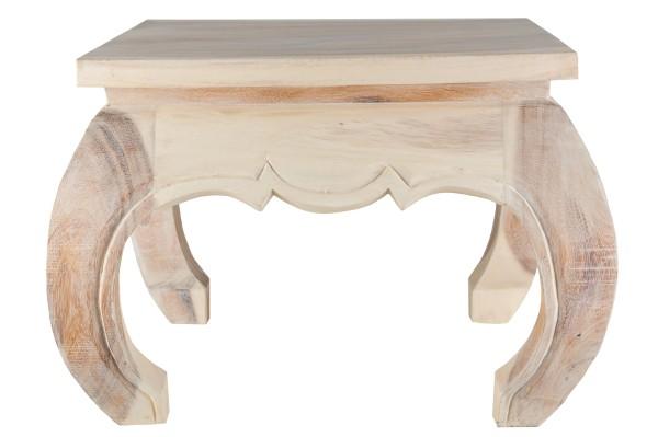 Opium Tisch 50 x 50 x 40cm (antikweiß)
