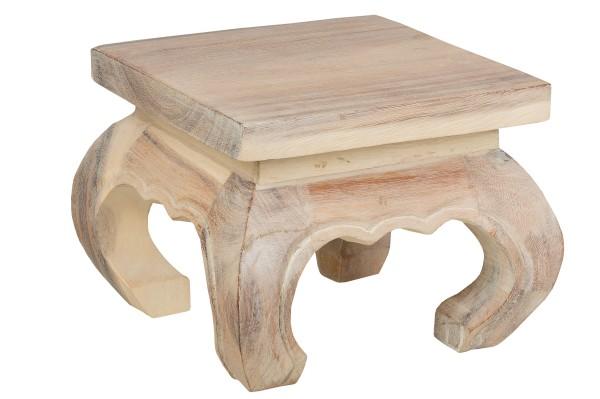 Opium Tisch (antik weiß 20 x 20 x 25 cm)