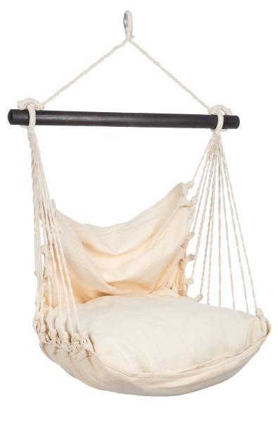 Set: Kinderhängesessel + Kissen 60x50cm (Baumwolle Weiß)