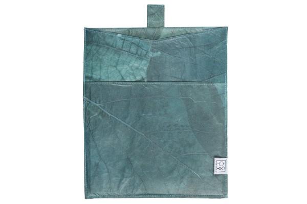 Tablet-Tasche aus Teakblättern (blau)