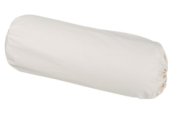 Bezug für Kissenrollen 70x25, Baumwolle (weiß)