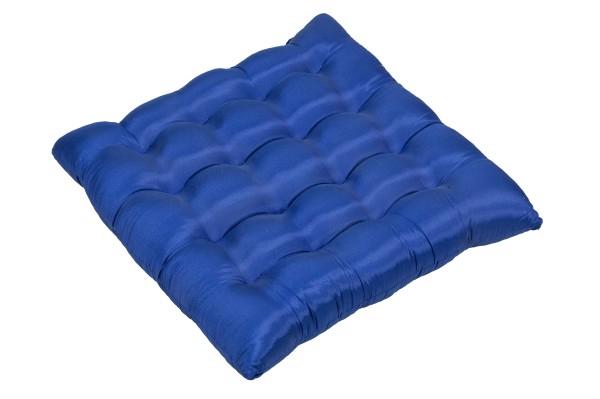 Sitzkissen Satin 40x40 cm (blau)