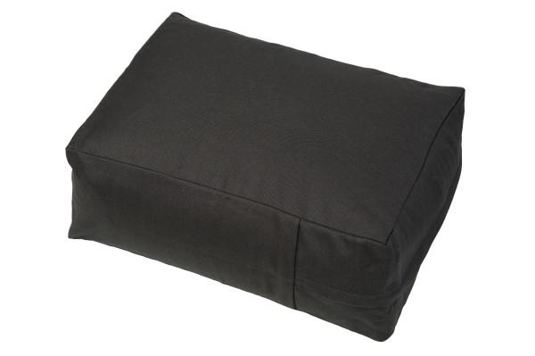 Kissen Baumwolle & Buchweizen 40x30x15 cm (schwarz)