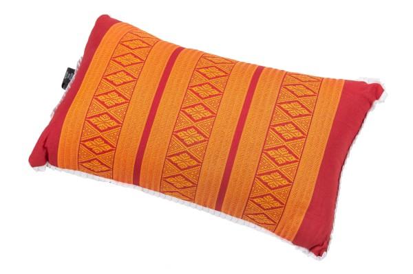 Thaikissen mit Kapokfüllung 45x28 cm (rot & orange)