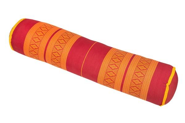 Yogarolle Thaimuster 80x20 cm (rot orange)