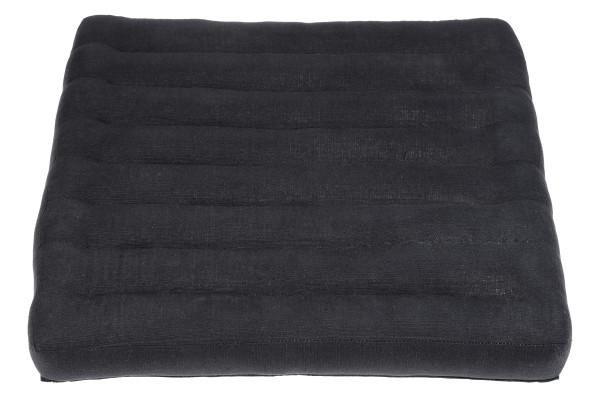 Großes Sitzkissen Naturbaumwolle 50x50x5 cm (schwarz)
