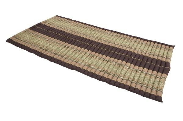 Thaikissen Rollmatte 200x100 cm (erdtöne) offen