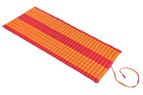 Rollable Kapok mat 200x80 cm (red & orange)