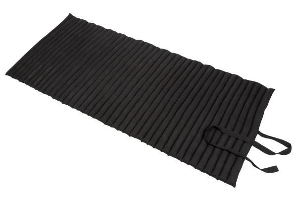 Rollbare Thaimatte Naturbaumwolle 200x100x5 cm (schwarz) ausgerollt