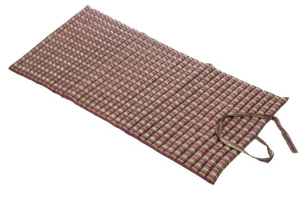 Rollbare Thaimatte 200x100x5 cm (Silklook Stripes rot) offen