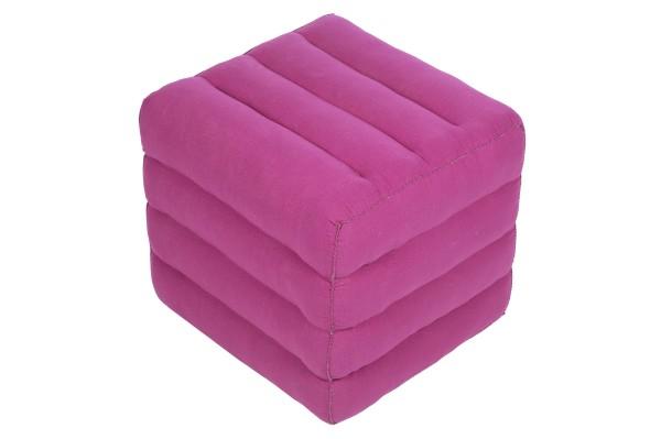 Würfelförmiges Kissen 40x40x40 cm (pink)