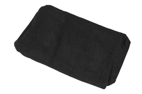 Bezug aus Baumwolle für Kapokkissen Block 35x15x10 cm (schwarz)