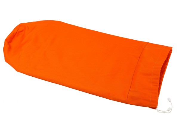 Cotton cover for bolster 70 x 25 cm (orange)