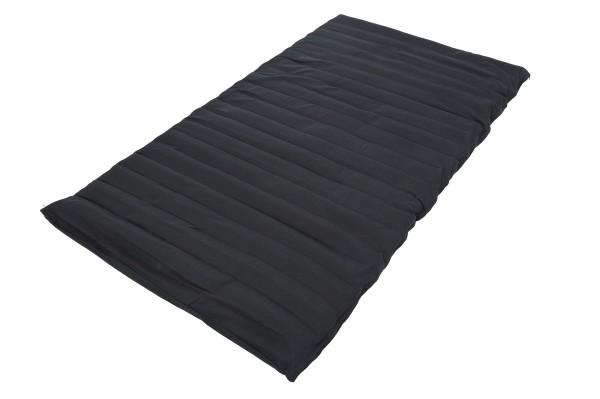 Rollmatte mit Buchweizenfüllung 200x100 cm (schwarz) offen