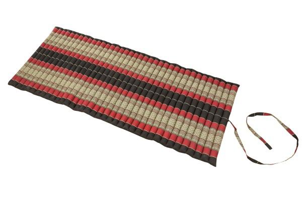 Rollbare Kapokmatte 200x80 (schwarz & rot) offen