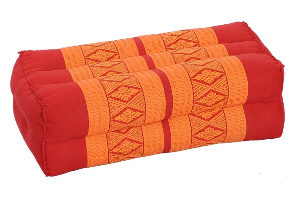 Kapokkissen Block 35x15x10 cm (rot & orange)