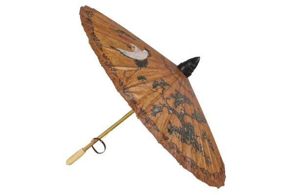 Handbemalter Dekoschirm aus Thailand (braun)
