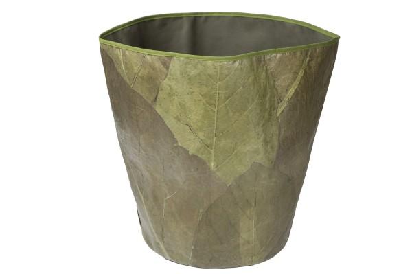 Papierkorb aus Teakblättern (grün)