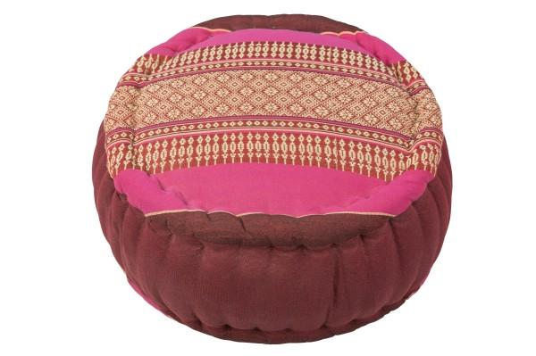 Zafu Kissen mit kapokfüllung ca. 34x20 cm (burgunder & pink)